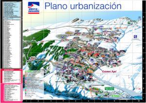 Plano Pistas Sierra Nevada