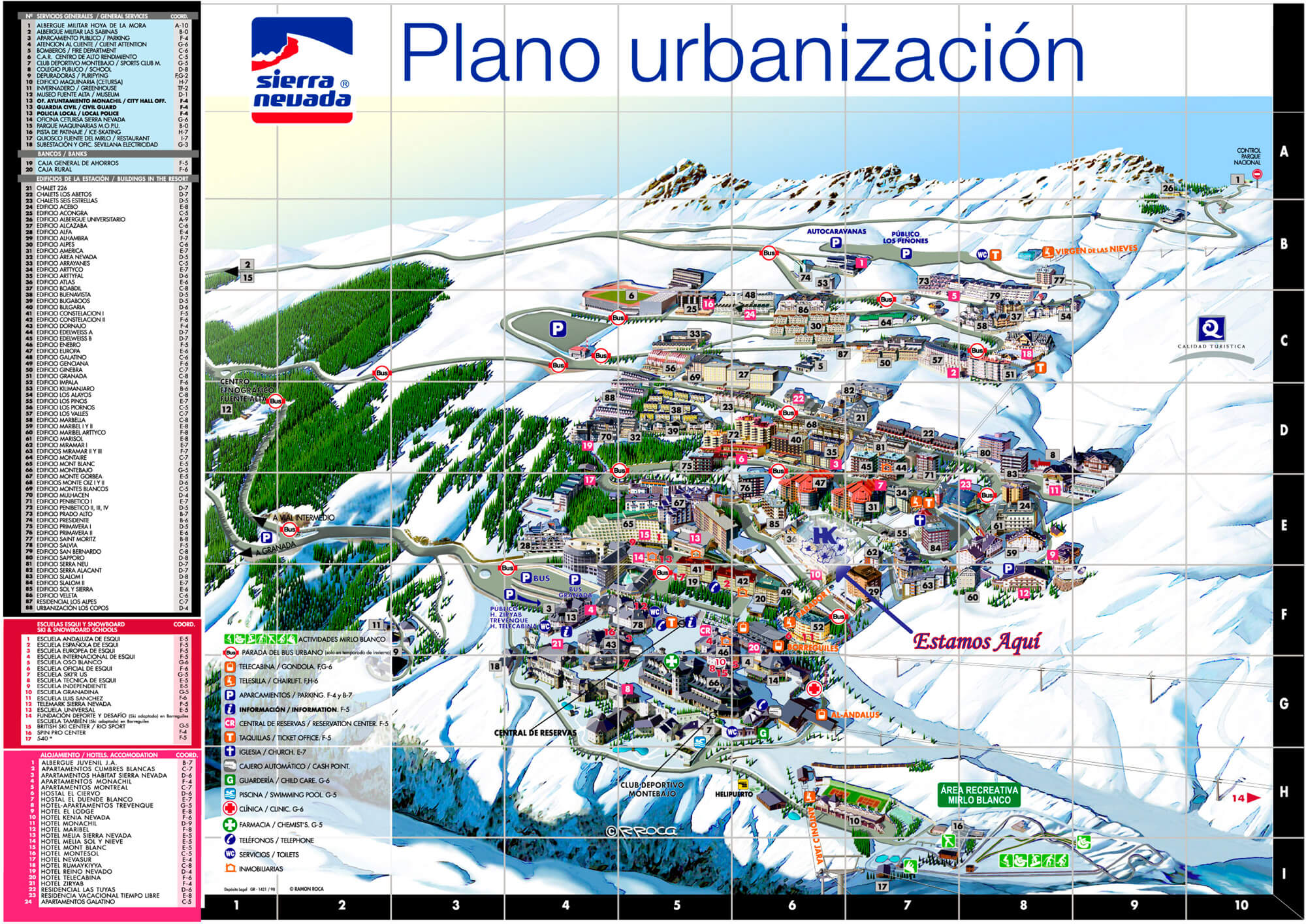 Mapa De Pistas Sierra Nevada Blanca Nieve Escuela De Esquí