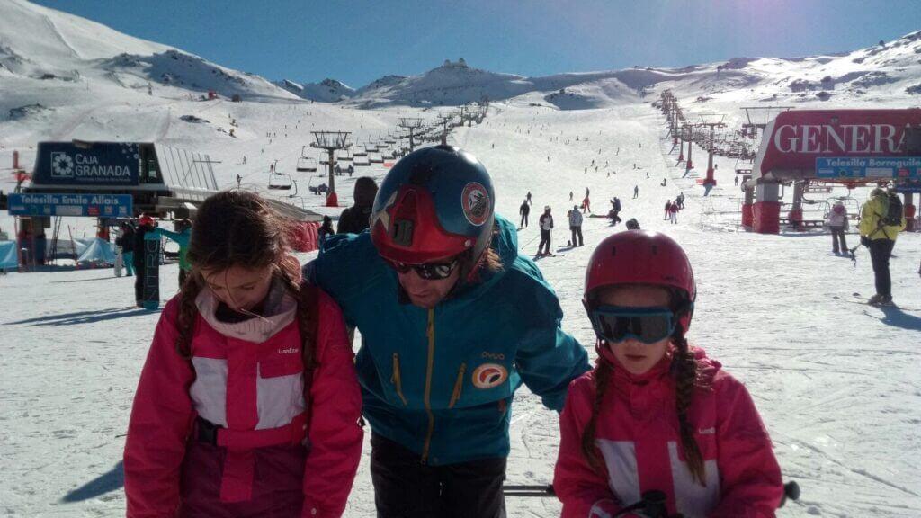 Los niños y el esquí