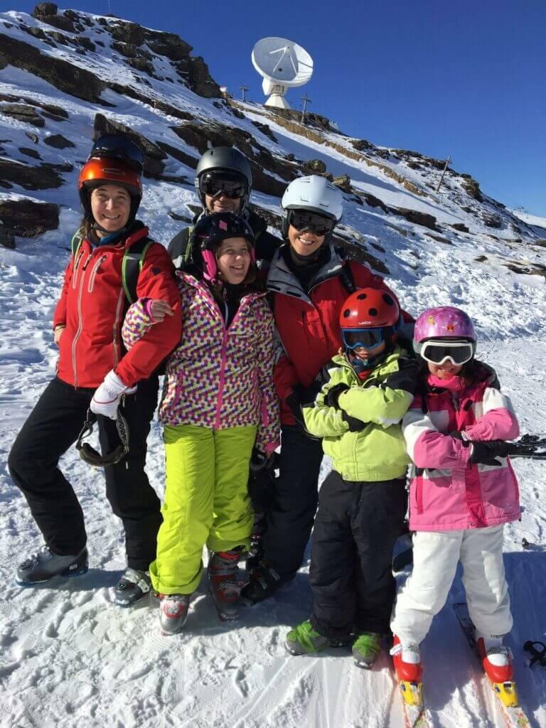 Family plan de esquí en Sierra Nevada