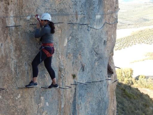 Via Ferrata Adventure activities summer in Granada