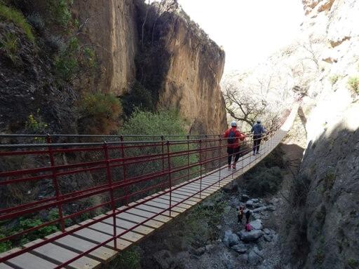 Los Cahorros Adventure activities summer in Granada