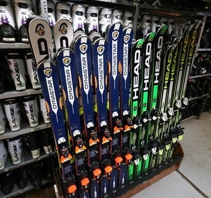 Equipment at our Ski School and Rental Blanca Nieve