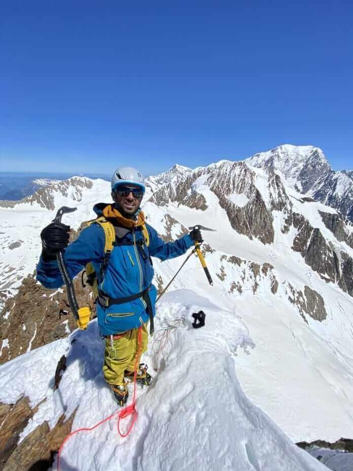 Nicolás en los alpes de aventura