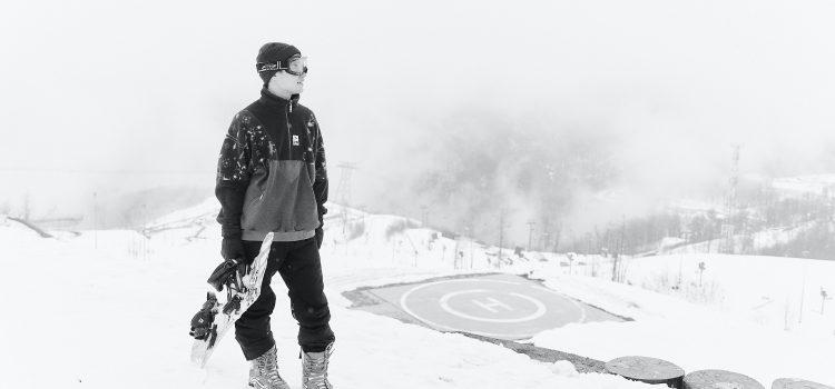 practicar snowboard